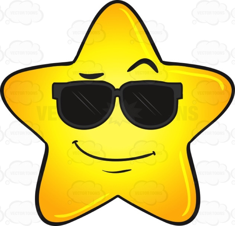 Smiley clipart gold star Clipart  Cool Gold Wearing