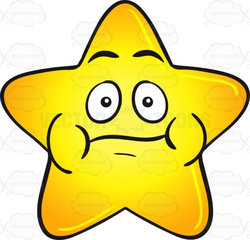 Smiley clipart gold star Emoji  Single Clipart Gold