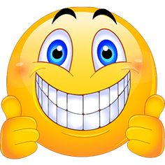Smiley clipart gut Smiley Thumbs Up art at