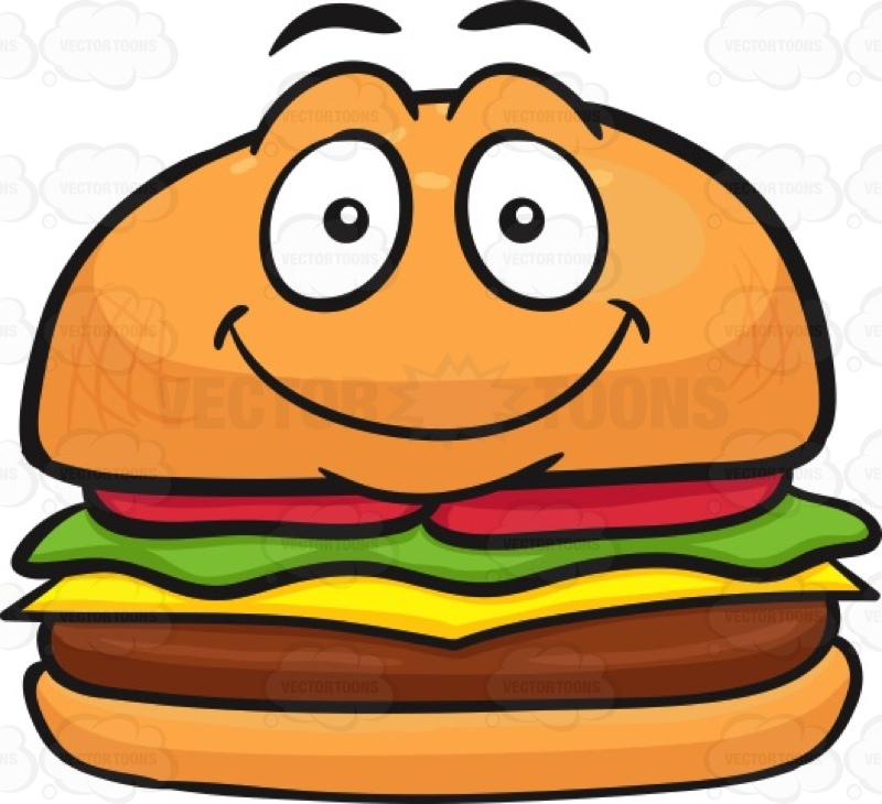 Smiley clipart hamburger Hamburger Face A It On