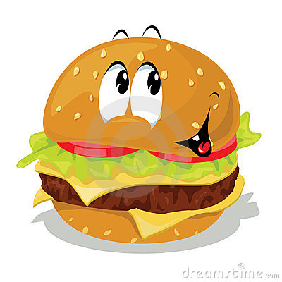 Smiley clipart hamburger Cartoon cliparts Clipart Burger Hamburger