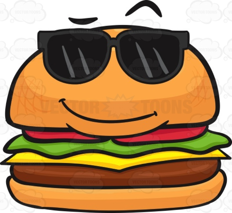 Smiley clipart hamburger Wearing Clipart #comedy Sunglasses #cheeseburger