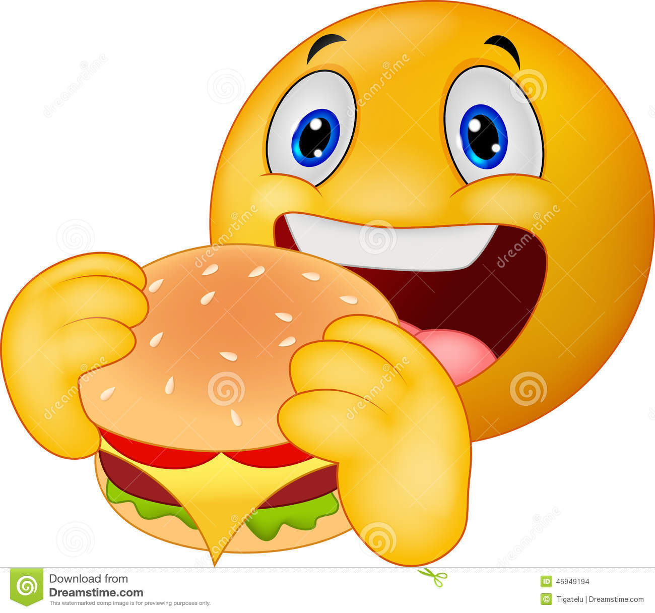 Smiley clipart hamburger Smiley Smiley Hamburger Hamburger Eating