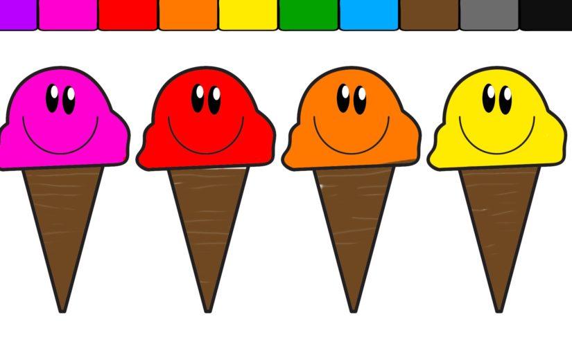 Smiley clipart ice cream COLORS COLORS FUN CREAM FACE