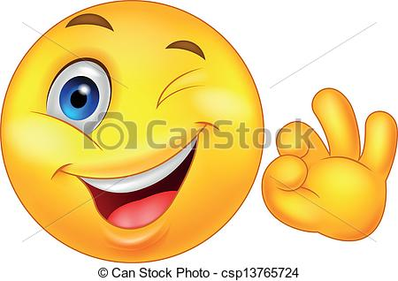 Smileys clipart okay Of Smiley emoticon with Illustration