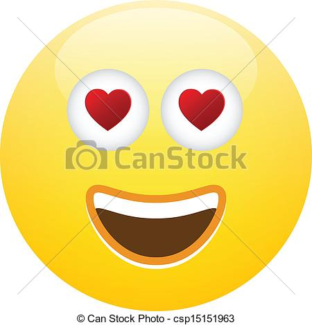 Smileys clipart logo Love Art Emoticon of Vector