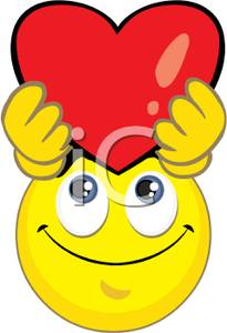 Hearts clipart smiley face Free Holding Royalty Up Picture