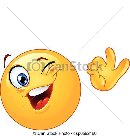 Smileys clipart okay Emoticon Vector ok emoticon Winking