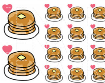Smiley clipart pancake Breakfast daily Etsy Pancakes stickers