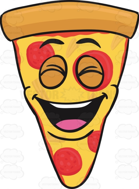 Smileys clipart pizza Of Emoji Clipart Laughing Pizza