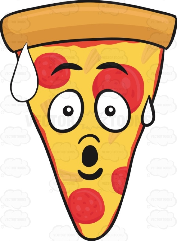 Smileys clipart pizza Startled Pepperoni Of Cartoon Pepperoni