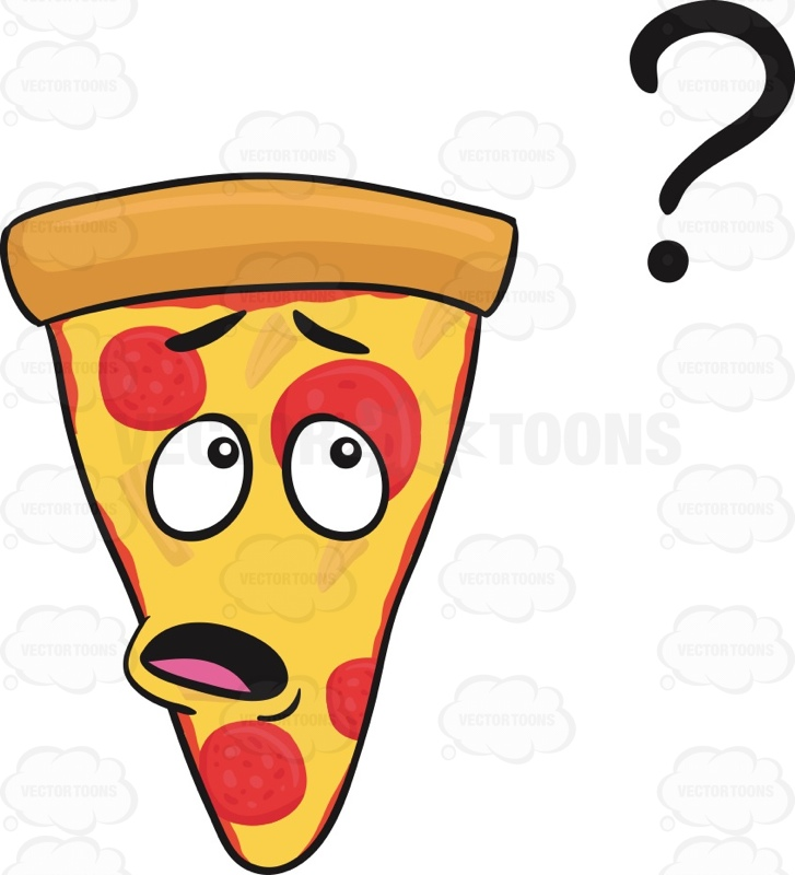 Smiley clipart pizza Pepperoni At Cartoon Floating Looking