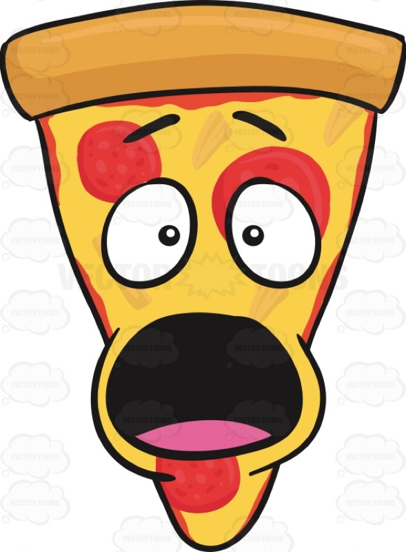 Smiley clipart pizza Looking Pepperoni #caricature Pizza Of