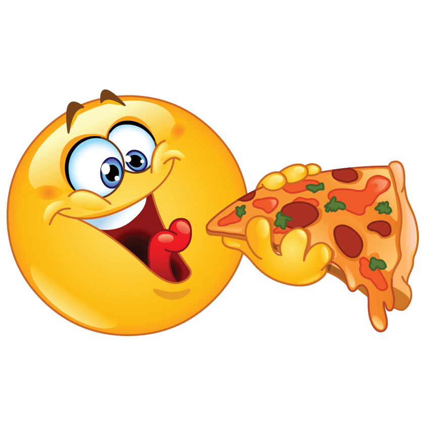 Smileys clipart pizza Smiley Pizzas ! Emoticons Pizza