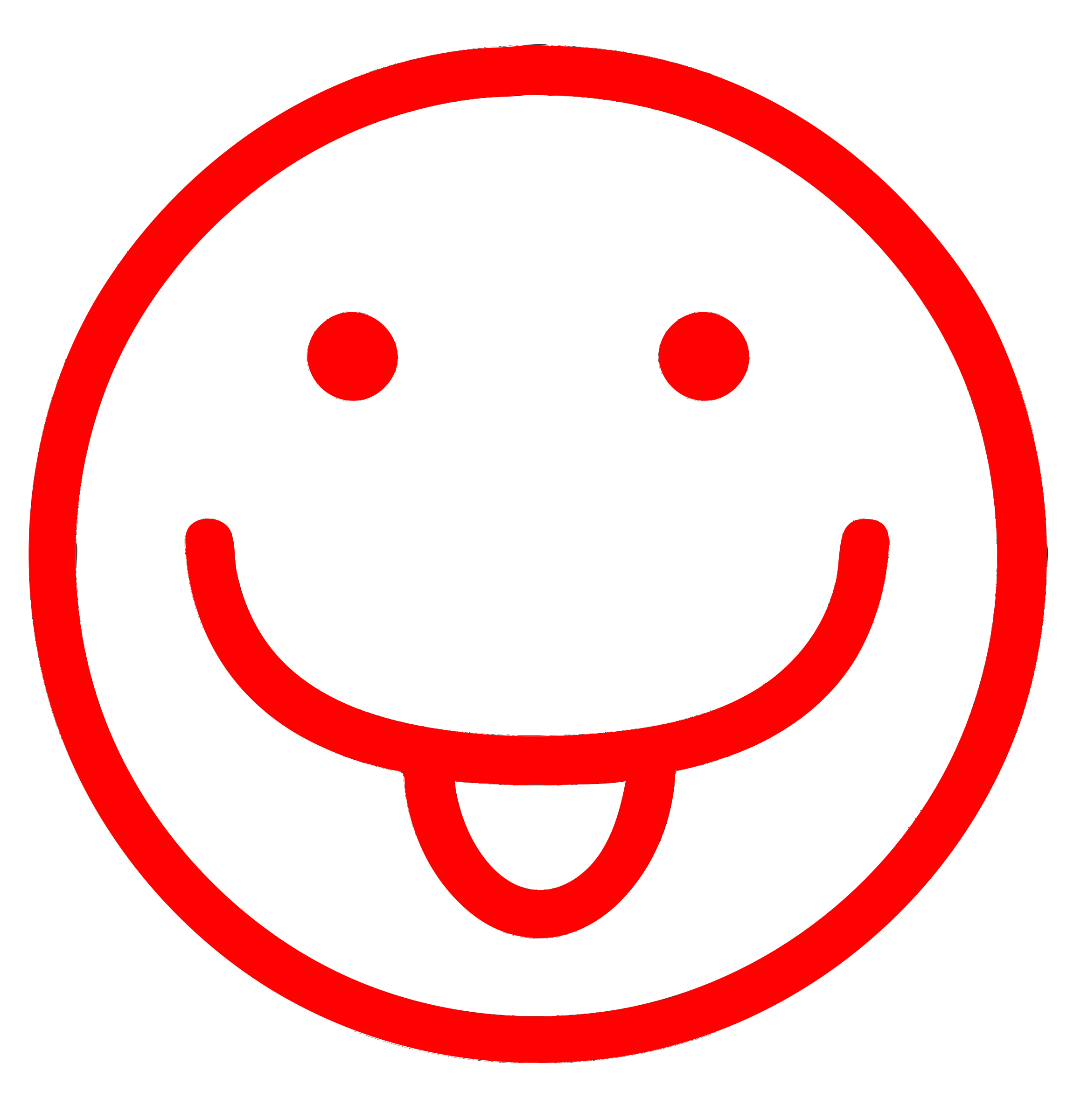 Smiley clipart red Red tongue Red sticking Smiley