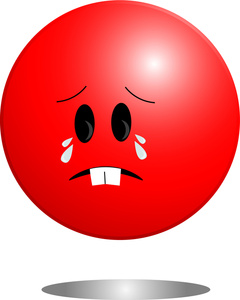 Smiley clipart red Face  crying A with