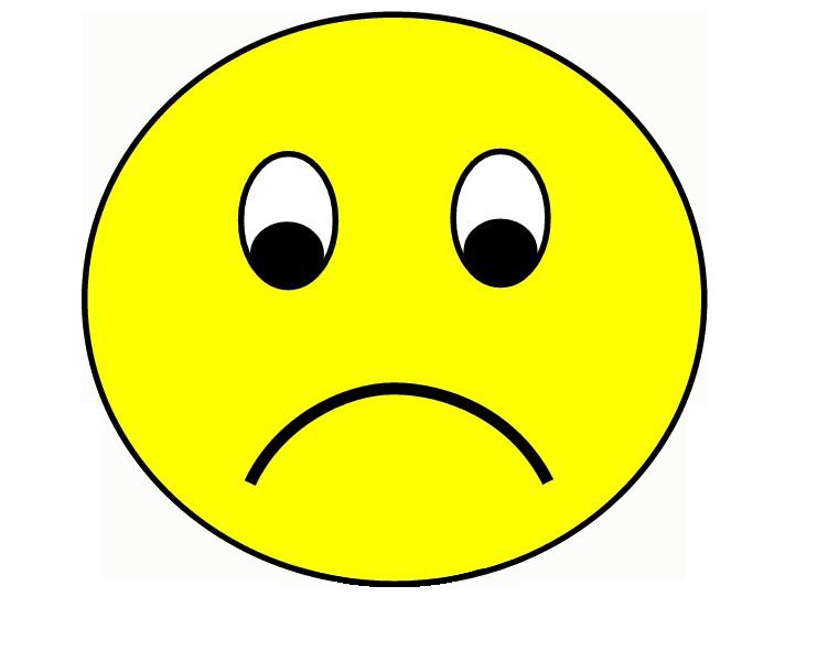 Sad clipart unhappy #9