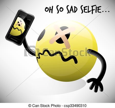 Smiley clipart selfie Photo csp33490310 Selfie Art Selfie