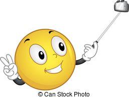 Smiley clipart selfie Clip Stick Selfie selfie Vector