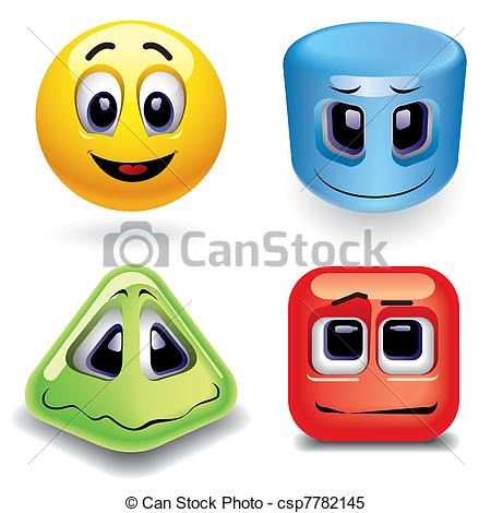 Smileys clipart shapes  as Smiley shapes Clipart