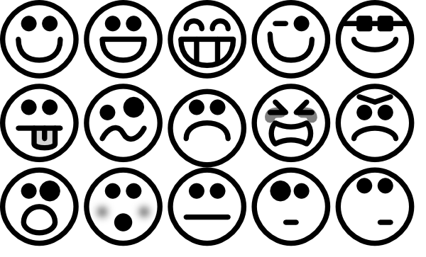 Smileys clipart simple Simple com vector Download Art
