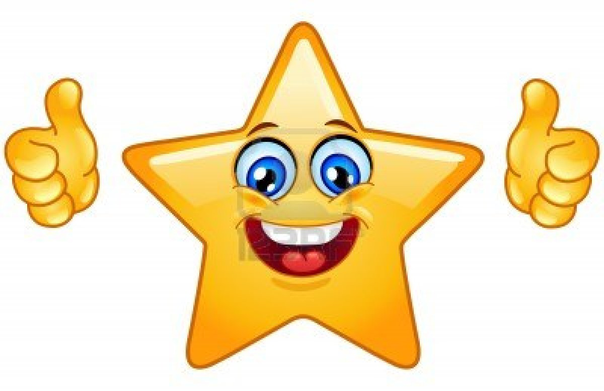 Smiley clipart star Animated Thumbs Work  with