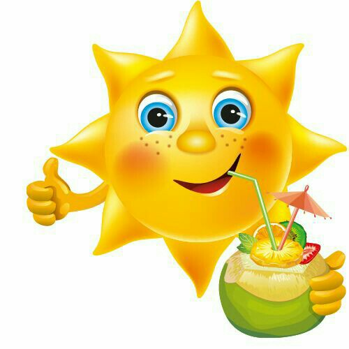 Smiley clipart summer Cute clipart Sunny Pinterest drink