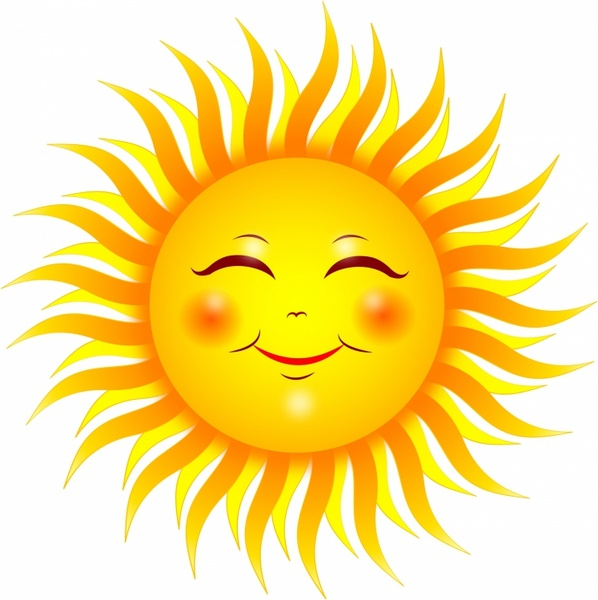 Calm clipart sun smiling (1 commercial vector Smiling use