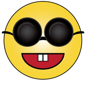 Smileys clipart animated Face Image Wearing Smiley Sunglasses