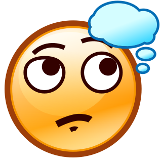Smiley clipart thinking  face(smiley) thinking custom apps