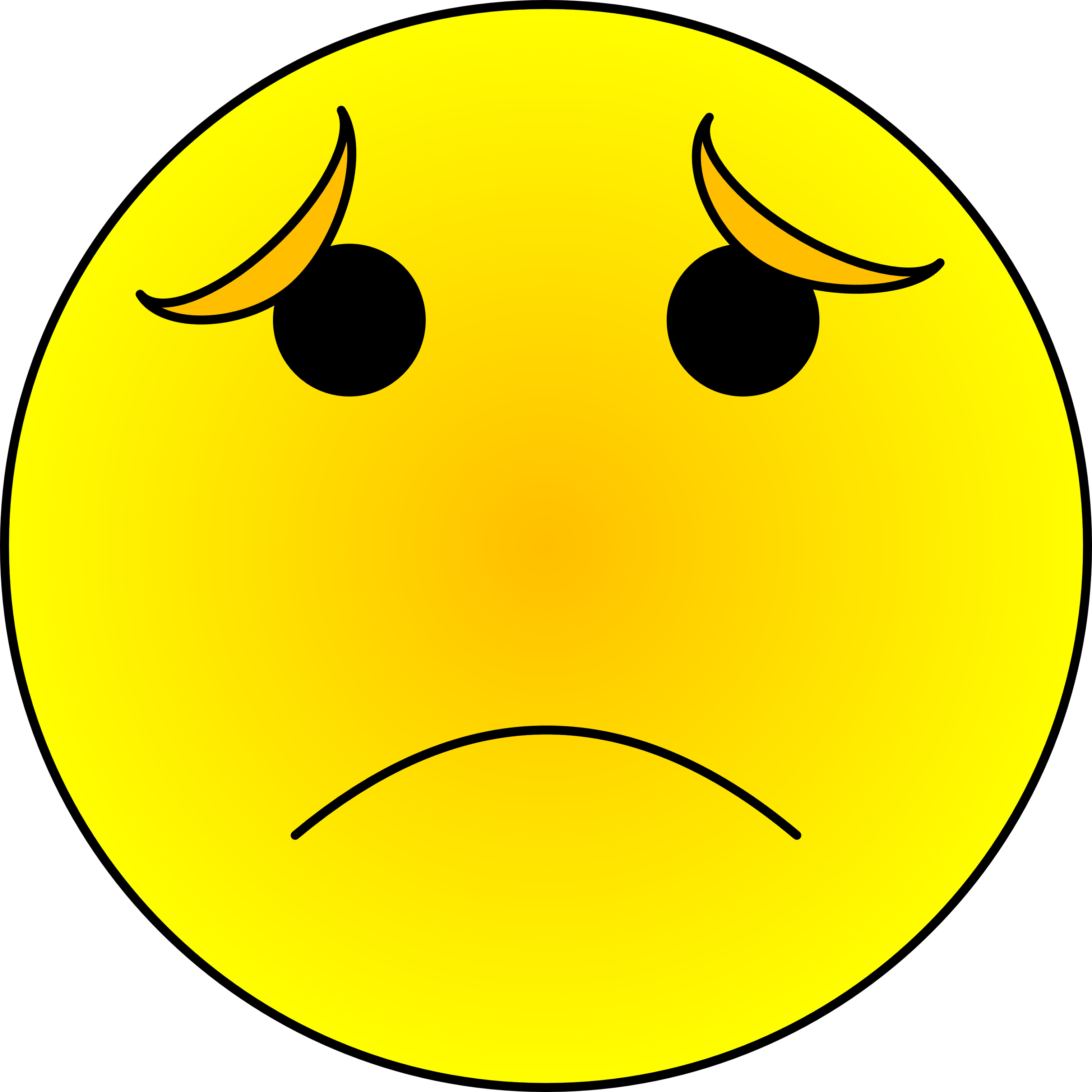 Smiley clipart upset #3604 Face of Clipart Smiley