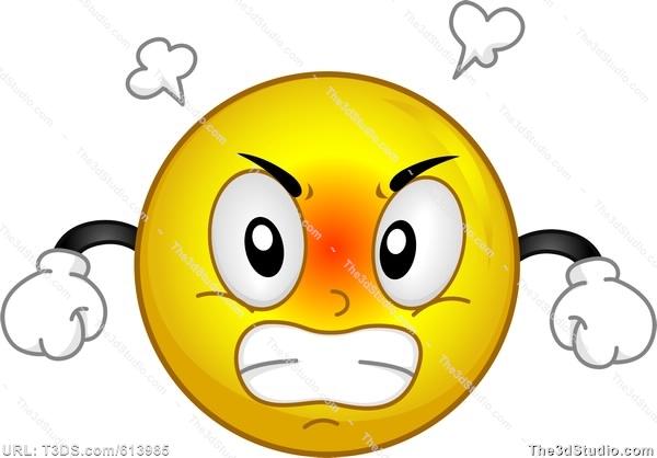 Smiley clipart upset Clipart Clipart Come Stock Vector