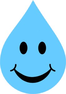 Waterdrop clipart emoticon #1