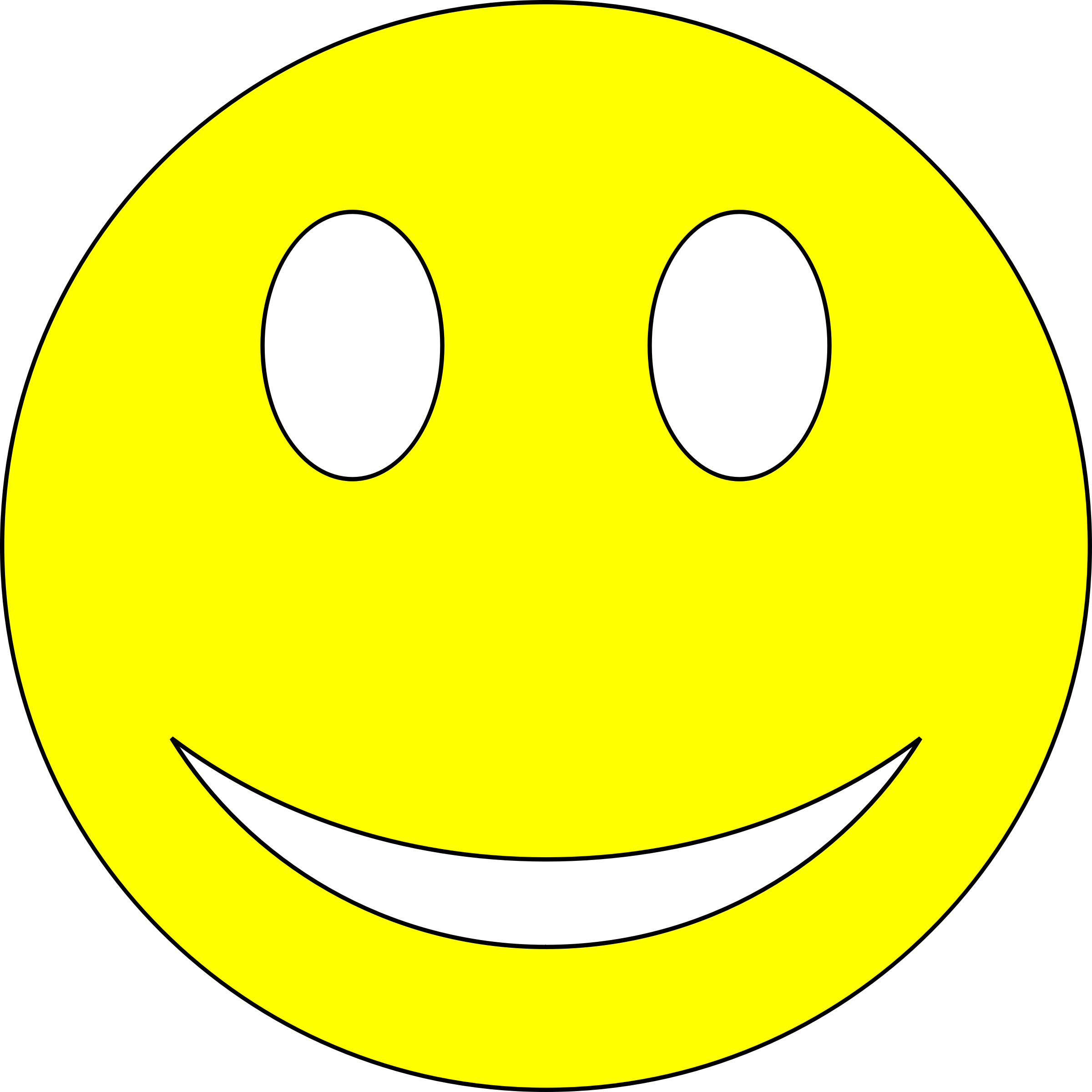 Smiley clipart yellow Yellow Smiley Smiley Clipart Yellow