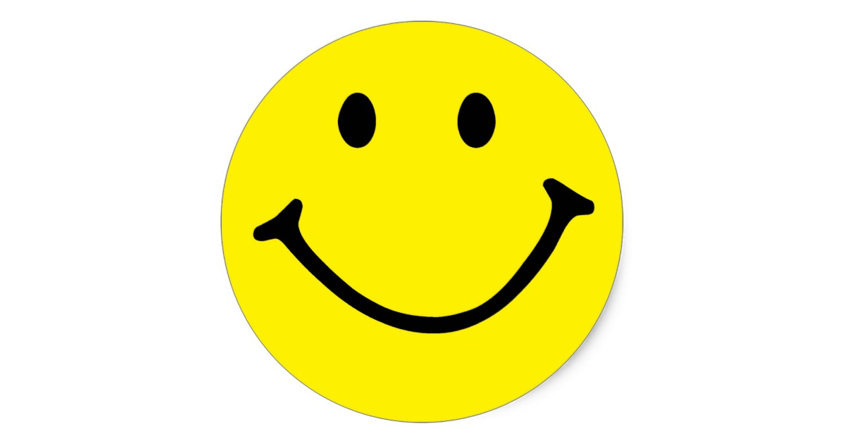 Smiley clipart yellow Sticker Classic  Face Zazzle