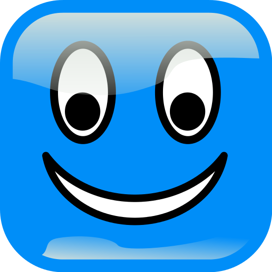 Smileys clipart blue Html blue blue  smiley