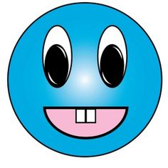 Smileys clipart blue Face  happy Image: face
