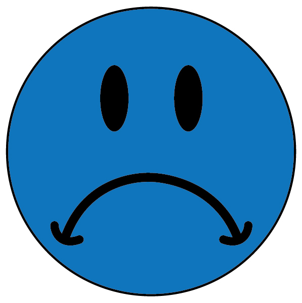 Smileys clipart blue Free Art Sad ClipArt Download