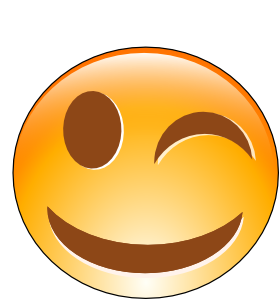 Smileys clipart cartoon Online Winking at Smiley