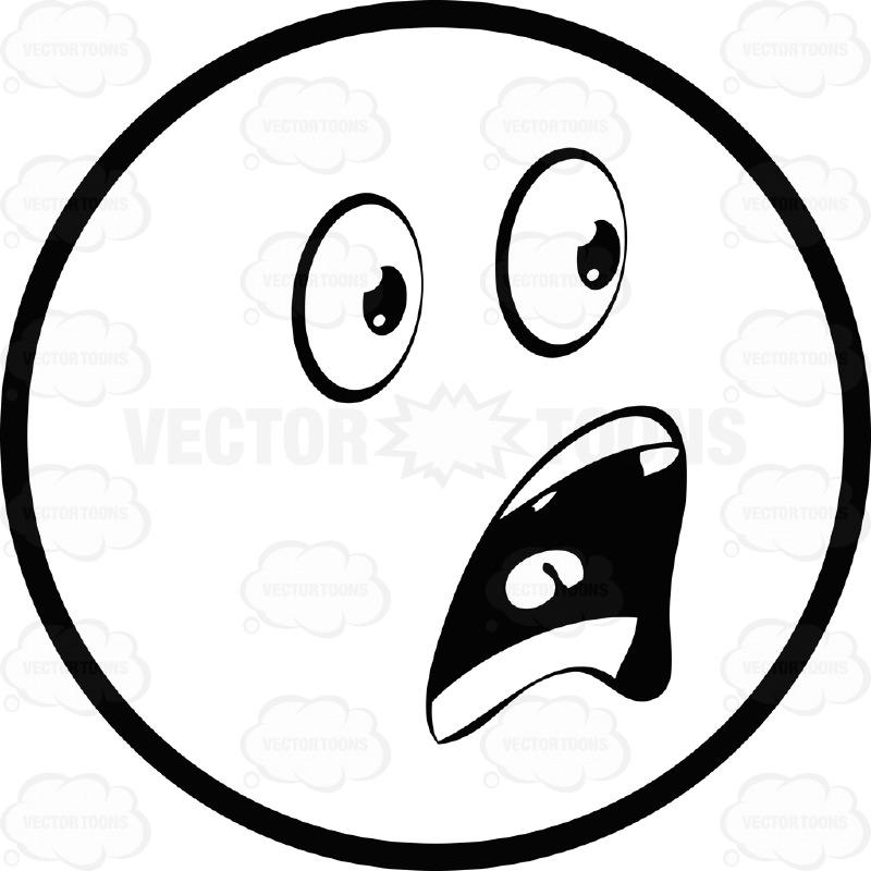Shocking clipart scared face Face Eyed Free Art Shocked