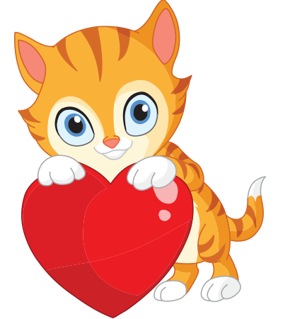 Smileys clipart cat With Symbols heart Kitty emoticons