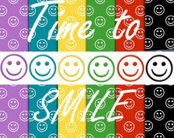 Smileys clipart colorful Red blue Smiley clipart party