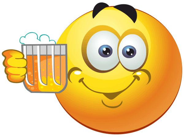Smileys clipart drinking water Beer on 478 smileys images