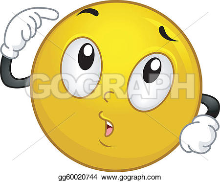 Smiley clipart thinking Illustration Smiley GoGraph Royalty Art