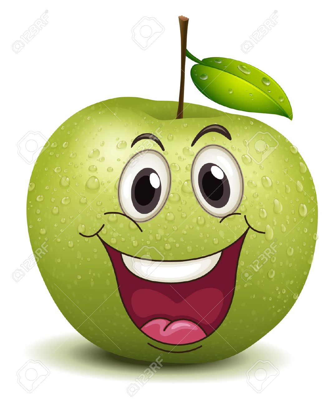 Apple clipart smiley  Search You Faces black