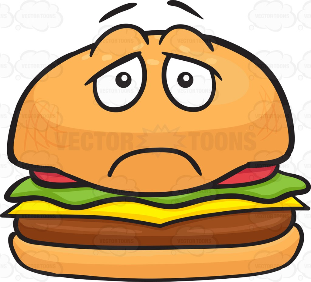 Hamburger clipart face Cheeseburger Cartoon Cheeseburger  Clipart