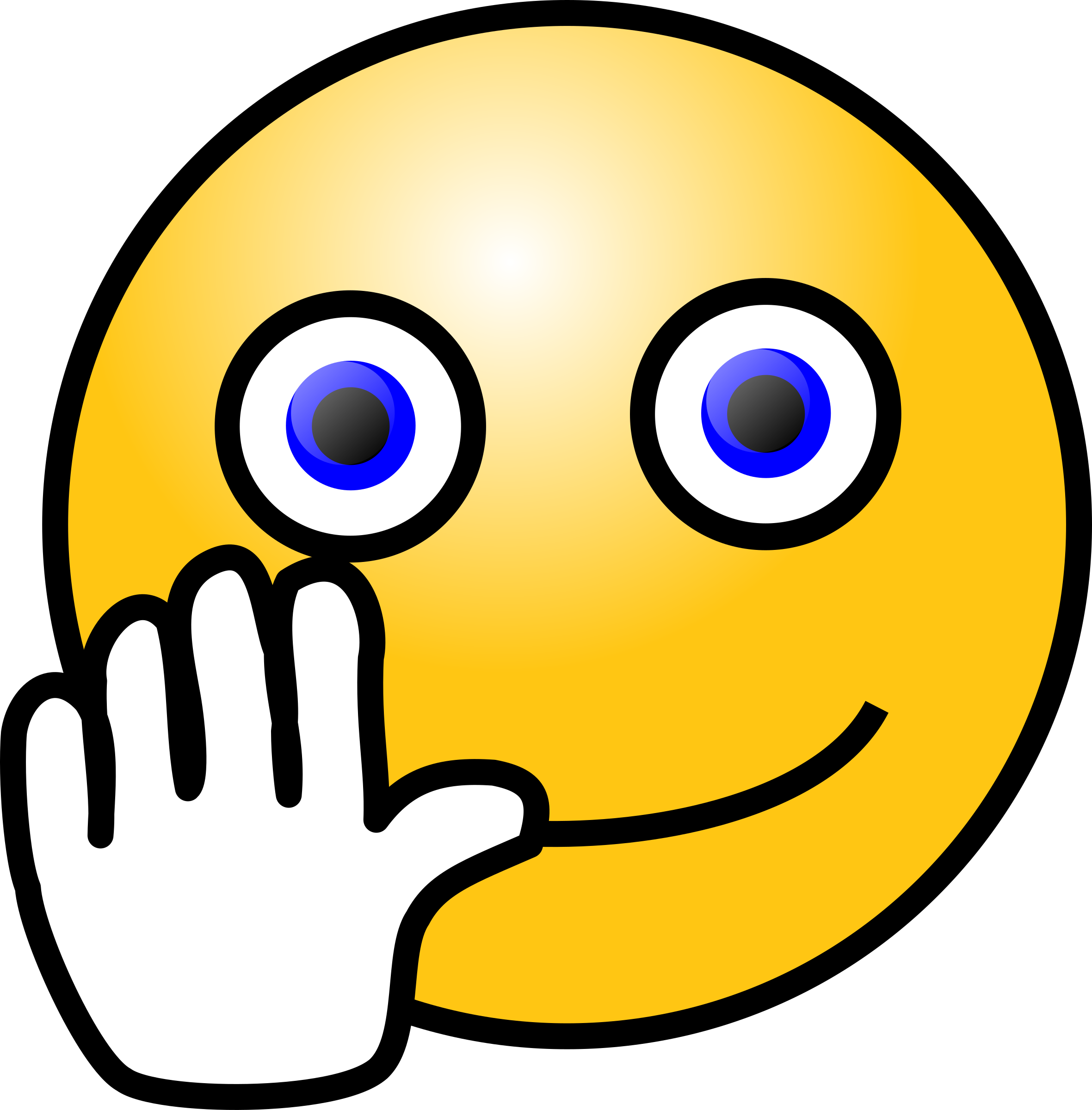 Smileys clipart hands Face waving Hand Emoticons: face