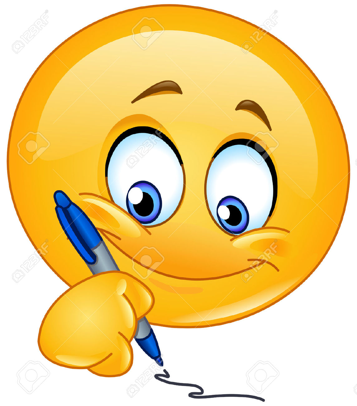 Smileys clipart happy emoji Writing Vectors Free Free Cliparts
