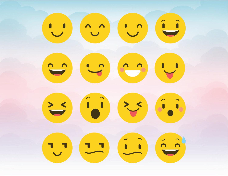 Smileys clipart happy emoji Cameo Smiley Files digital Emoticons