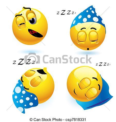 Smileys clipart logo Csp7818331 Sleeping  Art Vector